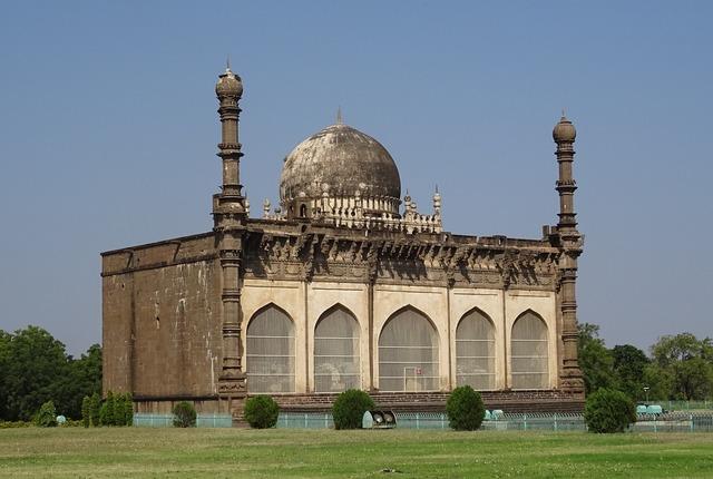 Mosque gol gumbaz mausoleum, architecture buildings.