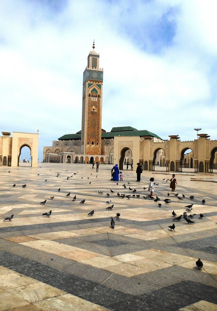 Mosque hassan ii morocco, architecture buildings.