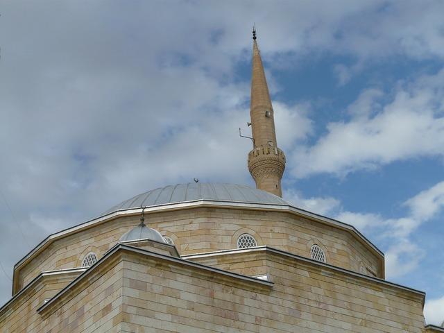Mosque minaret dome, architecture buildings.