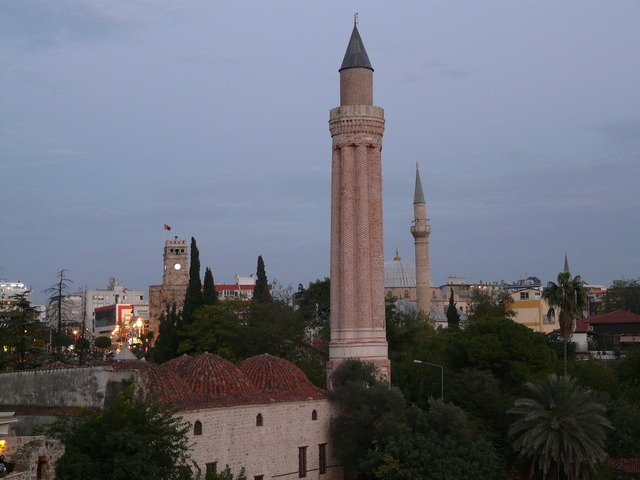 Mosque of yivli seminars mosque antalya, architecture buildings.