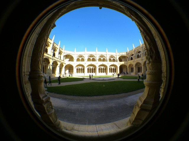 Mosteiro dos jerónimos jeronimo monastery cloister, architecture buildings.