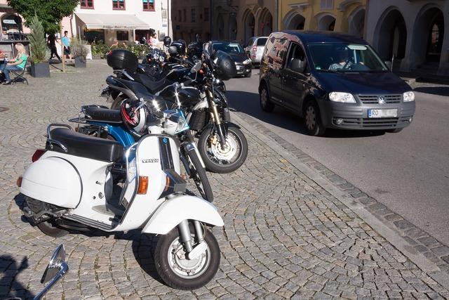 Motor scooter vespa cult, transportation traffic.