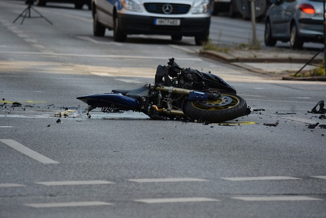 Motorcycle accident road, transportation traffic.