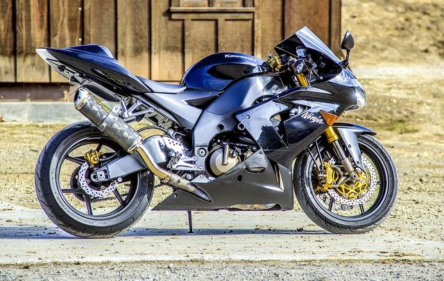 Motorcycle kawasaki speed, transportation traffic.