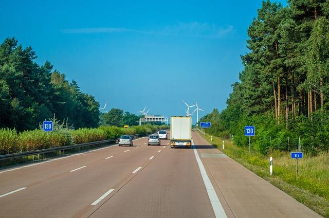 Motorway poland track, transportation traffic.