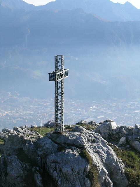 Mount moregallo cross italy.
