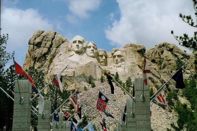Mount rushmore south dakota george washington präsidentenköpfe.