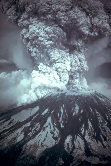 Mount st helens volcanic eruption eruption, nature landscapes.