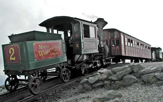 Mount washington train summit.