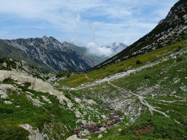 Mountain alpine maritime alps, nature landscapes.