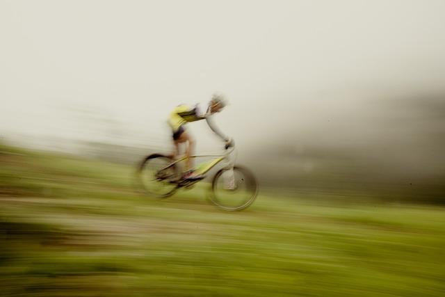 Mountain bike downhill ges.