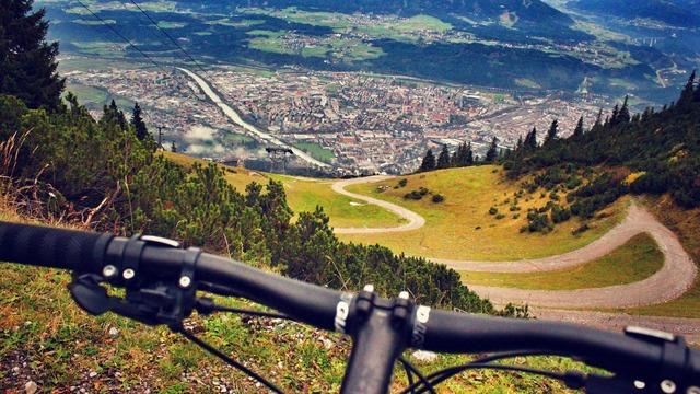 Mountain biking alps austria, nature landscapes.