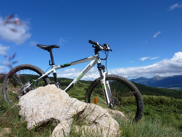 Mountain biking mountain pyrenees, nature landscapes.