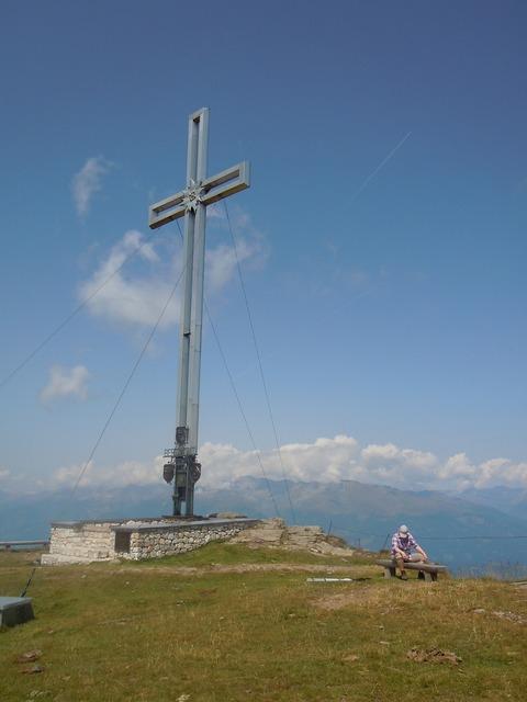 Mountain cross summit cross, nature landscapes.