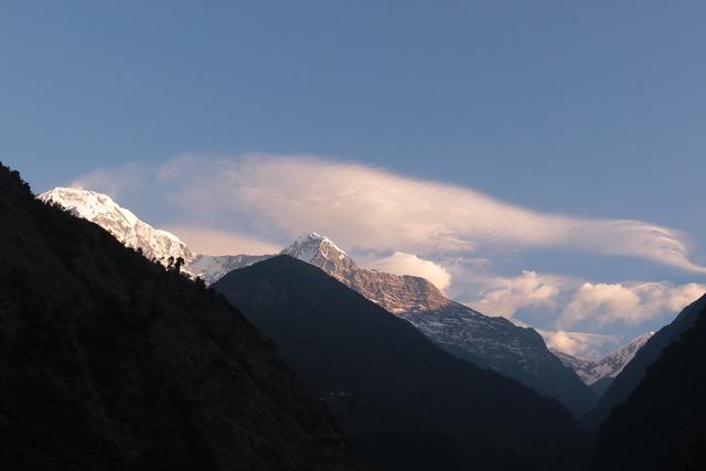 Mountain himalayan mountains pokhara, nature landscapes.