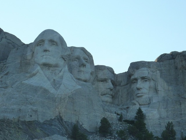 Mountain mount rushmore memorial, nature landscapes.