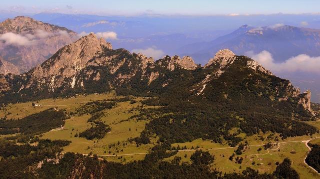 Mountain prato green, nature landscapes.