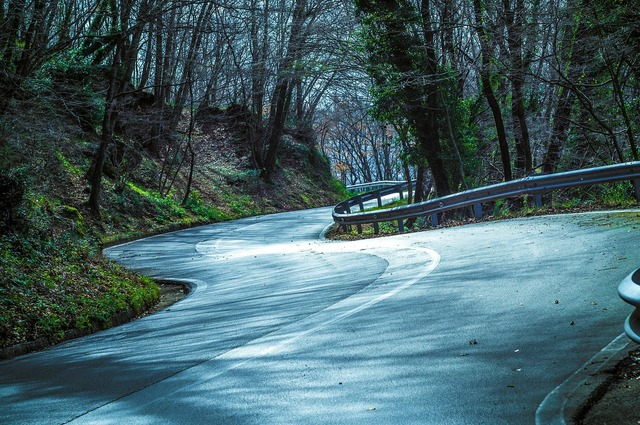 Mountain road moto, nature landscapes.