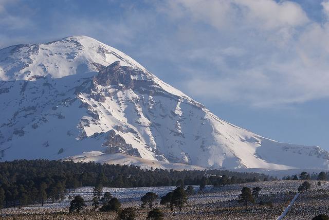 Mountain volcano mexico, nature landscapes.