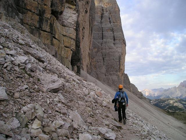 Mountaineer climber three zinnen.