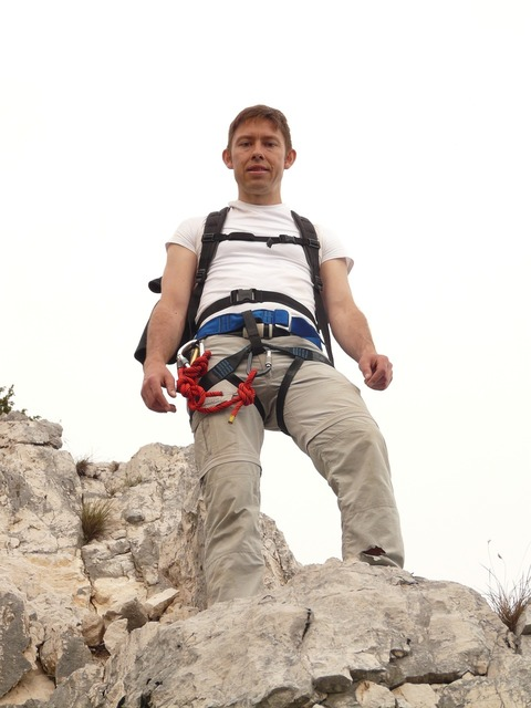 Mountaineer wanderer man, people.