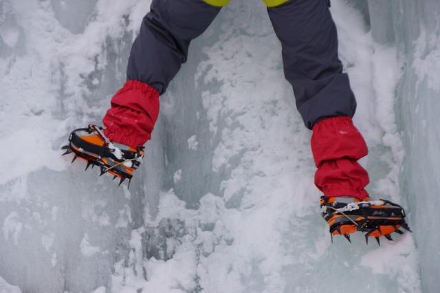 Mountaineering alps ice, people.