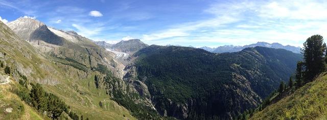 Mountains aletsch hiking.