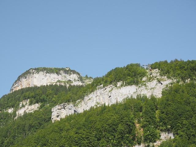 Mountains alpine cable car.