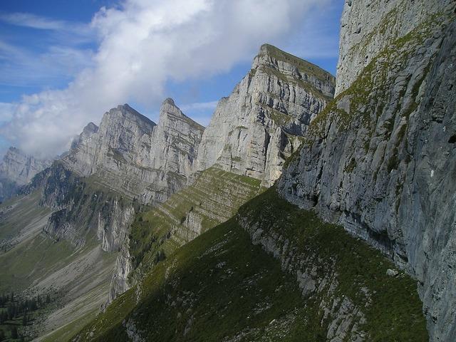 Mountains alpine churfirsten.