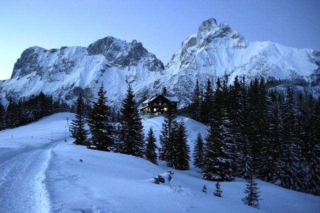 Mountains alpine evening.
