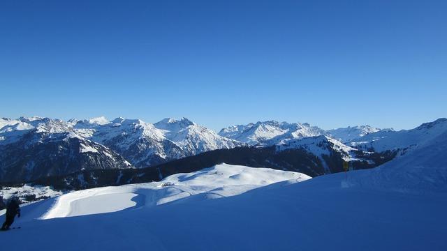 Mountains alpine snow.