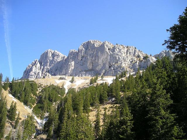 Mountains alpine tannheim.