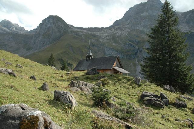 Mountains chapel church, religion.