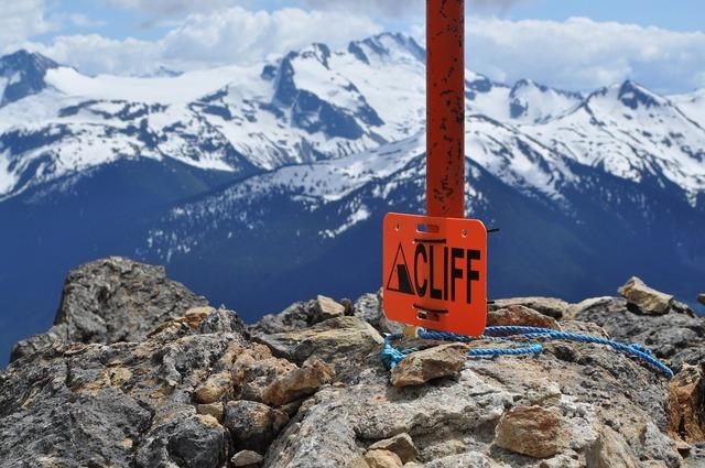 Mountains cliff adventure.