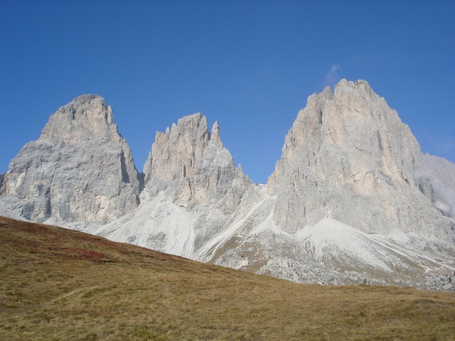 Mountains dolomites hiking, nature landscapes.