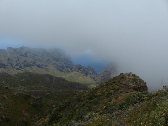 Mountains fog teno mountains.