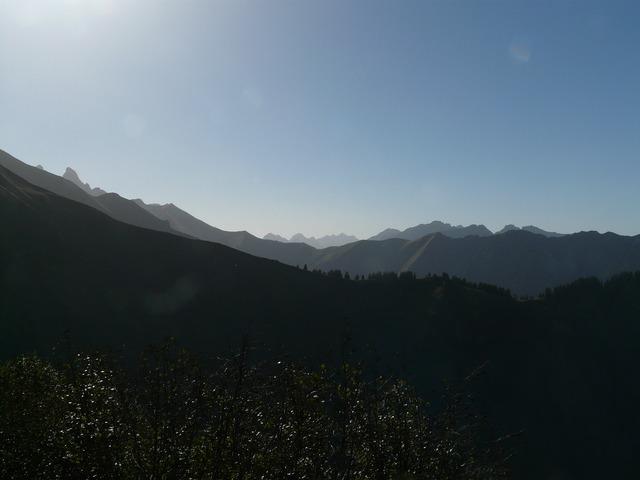 Mountains mountain panorama aelpelesattel.