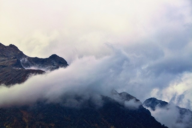 Mountains mountain world fog, nature landscapes.