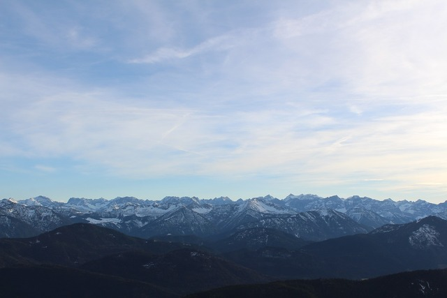 Mountains panorama alpine, nature landscapes.