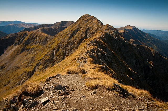 Mountains peaks summit.
