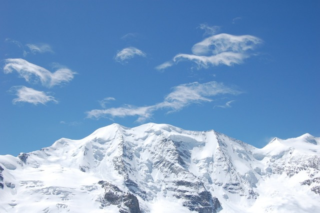 Mountains piz palu bernina.