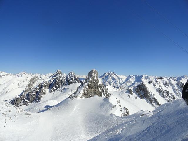 Mountains snow arlberg.