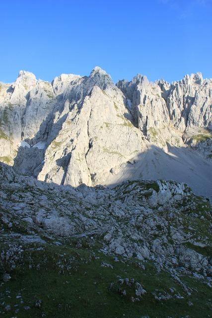 Mountains wilderkaiser alpine.