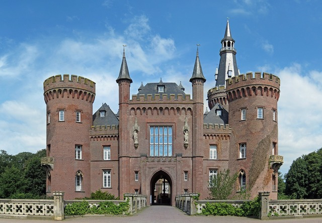 Moyland germany castle, architecture buildings.