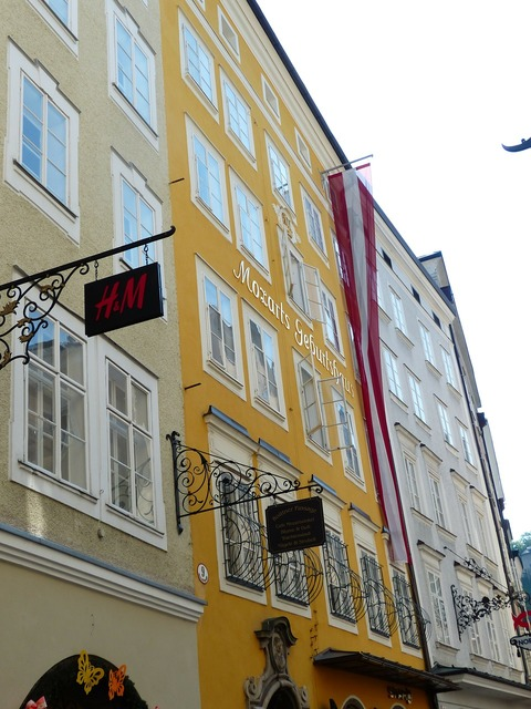 Mozart birthplace wolfgang, architecture buildings.