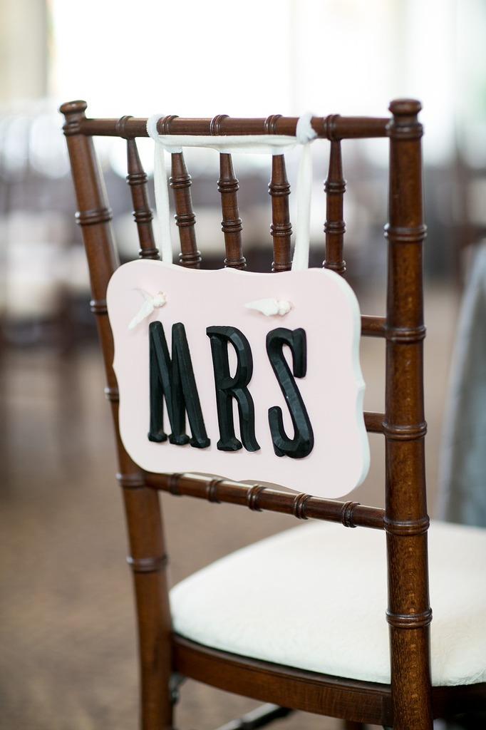 Mrs wedding chair.