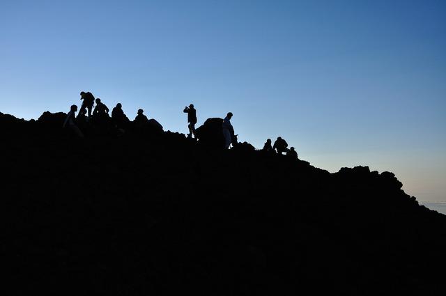 Mt fuji hope mountains, people.