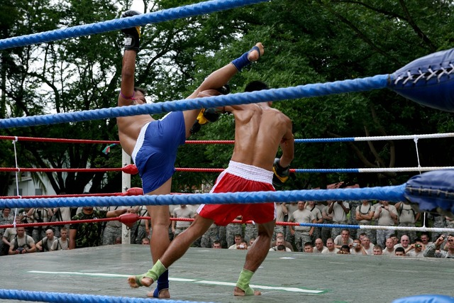Muay thai demonstration competition, sports.