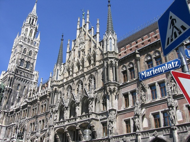 Munich marienplatz bavaria, architecture buildings.