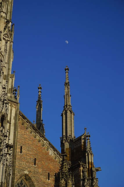 Münster ulm cathedral moon, religion.